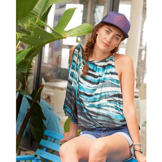 Burda style Viskose Stretch Jersey in Maritim Look