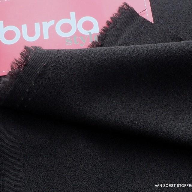 Burda style soft Krepp in tief-Schwarz