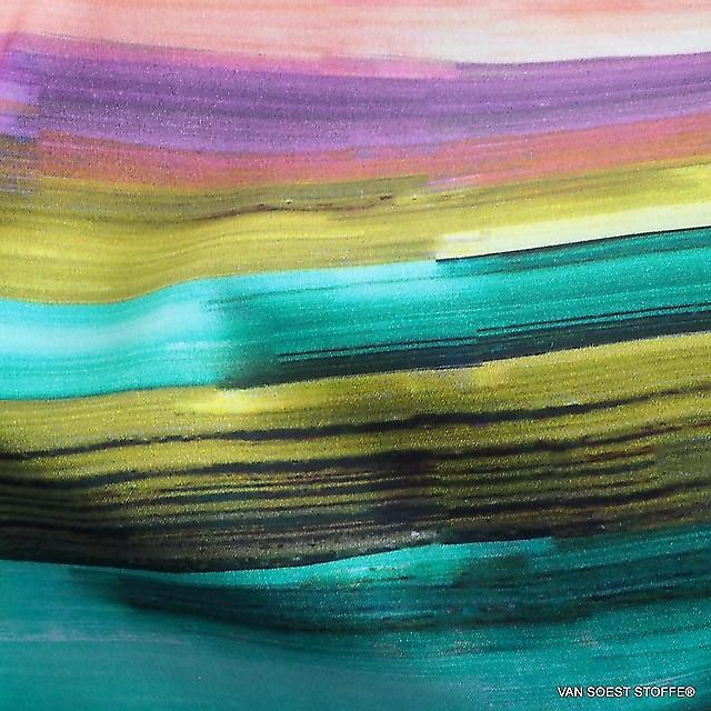 C.Pauli Sunset Farb Bogen Druck auf GOTS Bio Soft Popeline