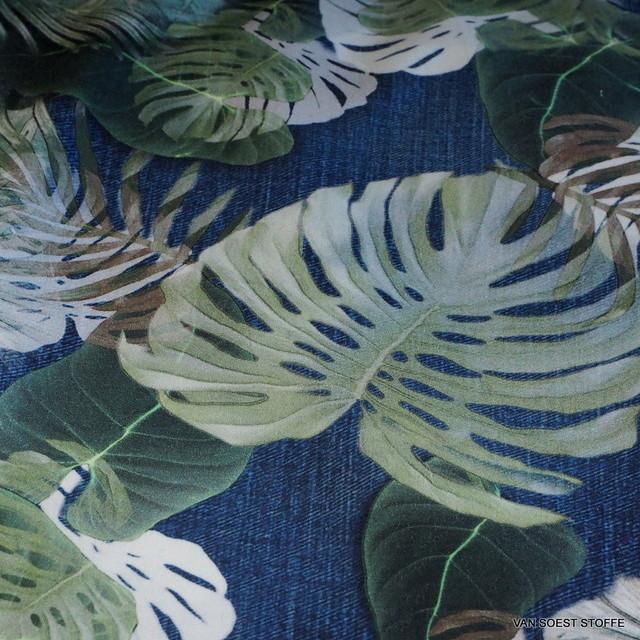 Jeans Jungleprint auf 100% feiner Baumwolle