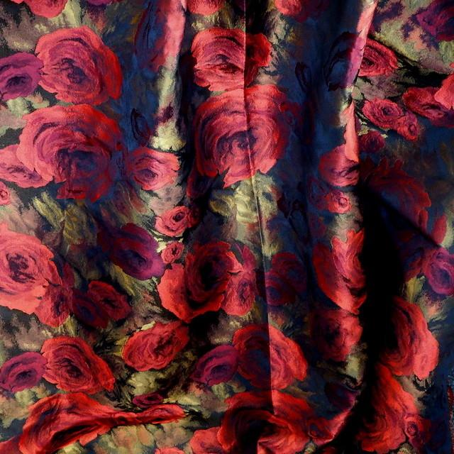 Rosen Schatten Jacquard in Rot Schwarz Gold