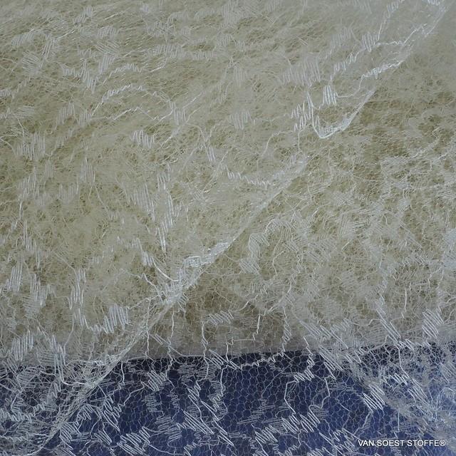 Steifer Jacquard Nylon Tüll Bomboniera in Farbe Natur