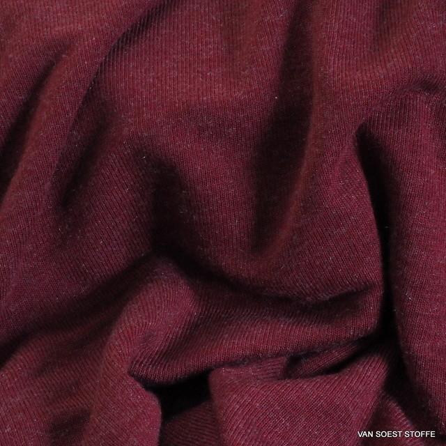 Stretch Feinstrick in Burgund Rot