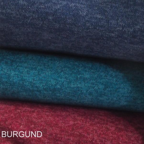 Stretch Melange Piqué Strick in Burgund + 4 weitere Farben