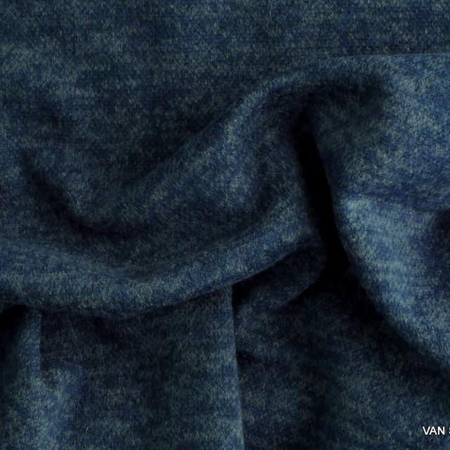 Stretch Melange Piqué Strick in Taubenblau + 4 weitere Farben
