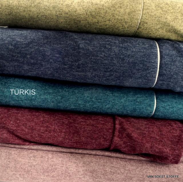 Stretch Melange Piqué Strick in Türkisblau+ 4 weitere Farben