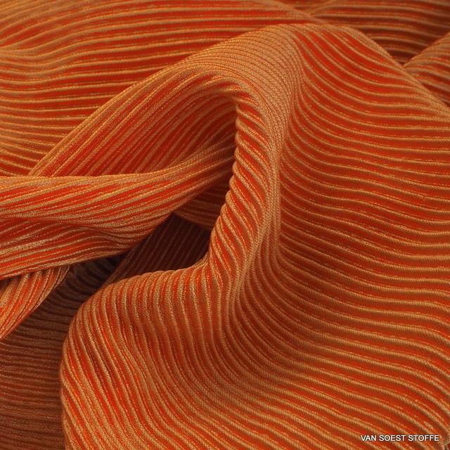 Stretch Plissee in Orange