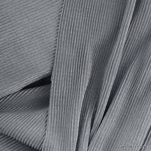 Stretch Plissee in Silber Grau
