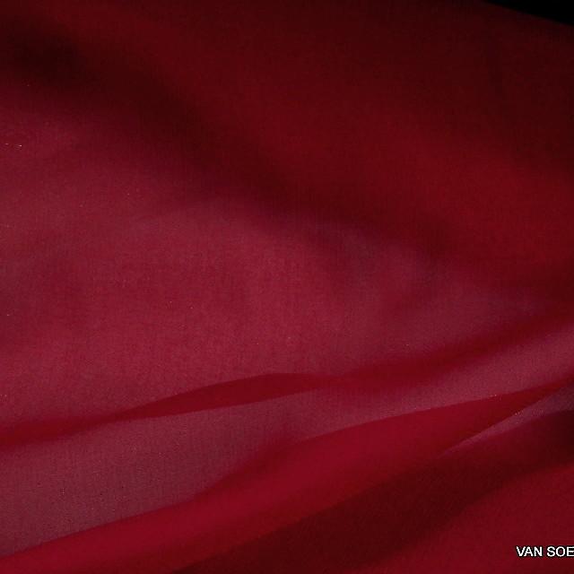 100% Viskose Georgette in Scharlach Rot