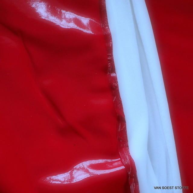 Wetlook soft Vinyl mit Abseite in Farbe Rot