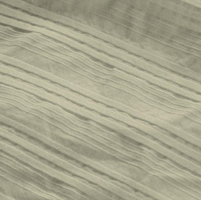 Baumwoll Plissee Fältchen Stoff in Wollweiß