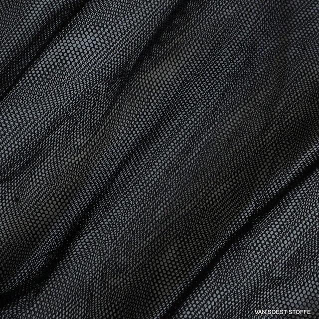 ausgefallene stoffe modestoffe spitzen baumwoll polyester soft t ll in schwarz farbe. Black Bedroom Furniture Sets. Home Design Ideas