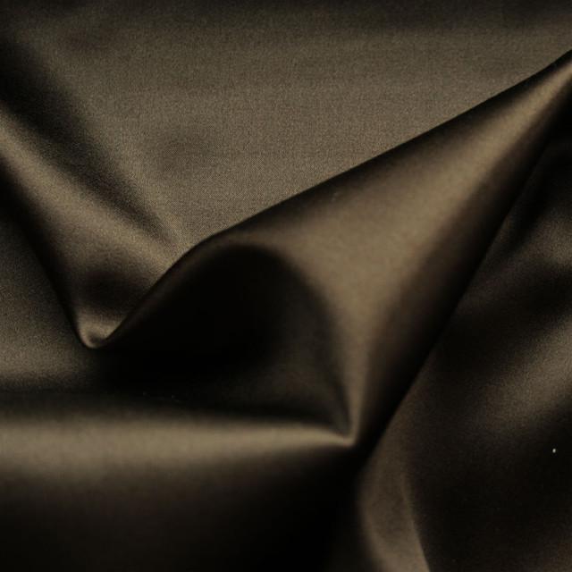 Reine Stretch Seide in wunderschönem dunkelbraun Satin Charmeuse