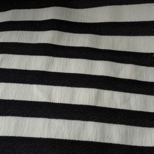 stretch quer streifen dobby stoff in schwarz wei uni. Black Bedroom Furniture Sets. Home Design Ideas