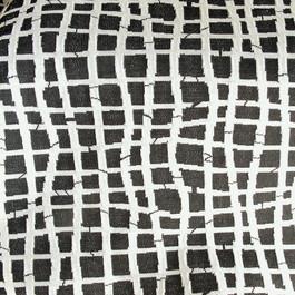 Stoff 0853 Stretch Geografic Jersey Design in Schwarz - Weiß