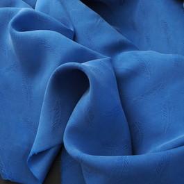 Stoff Cupro - Tencel Feder Jacquard in Kobalt Blau