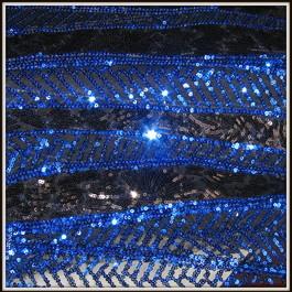 Stoff Geometric Retro Twenties Kobaltblau