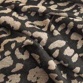 Stoff Jersey Stoff Stoffe Reptil in Khaki Schwarz