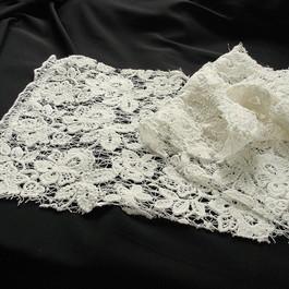 Stoff Spitzenstoffe kaufen: Schwere  Guipure Soft Spitze in Weiß