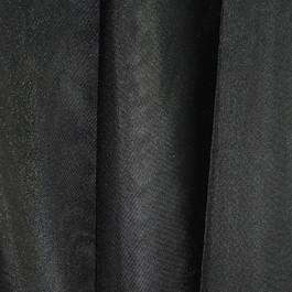 Stoff Voile in schwarz