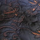 Stoff Schicke schwarze High End Embroidered Steppware Blumen