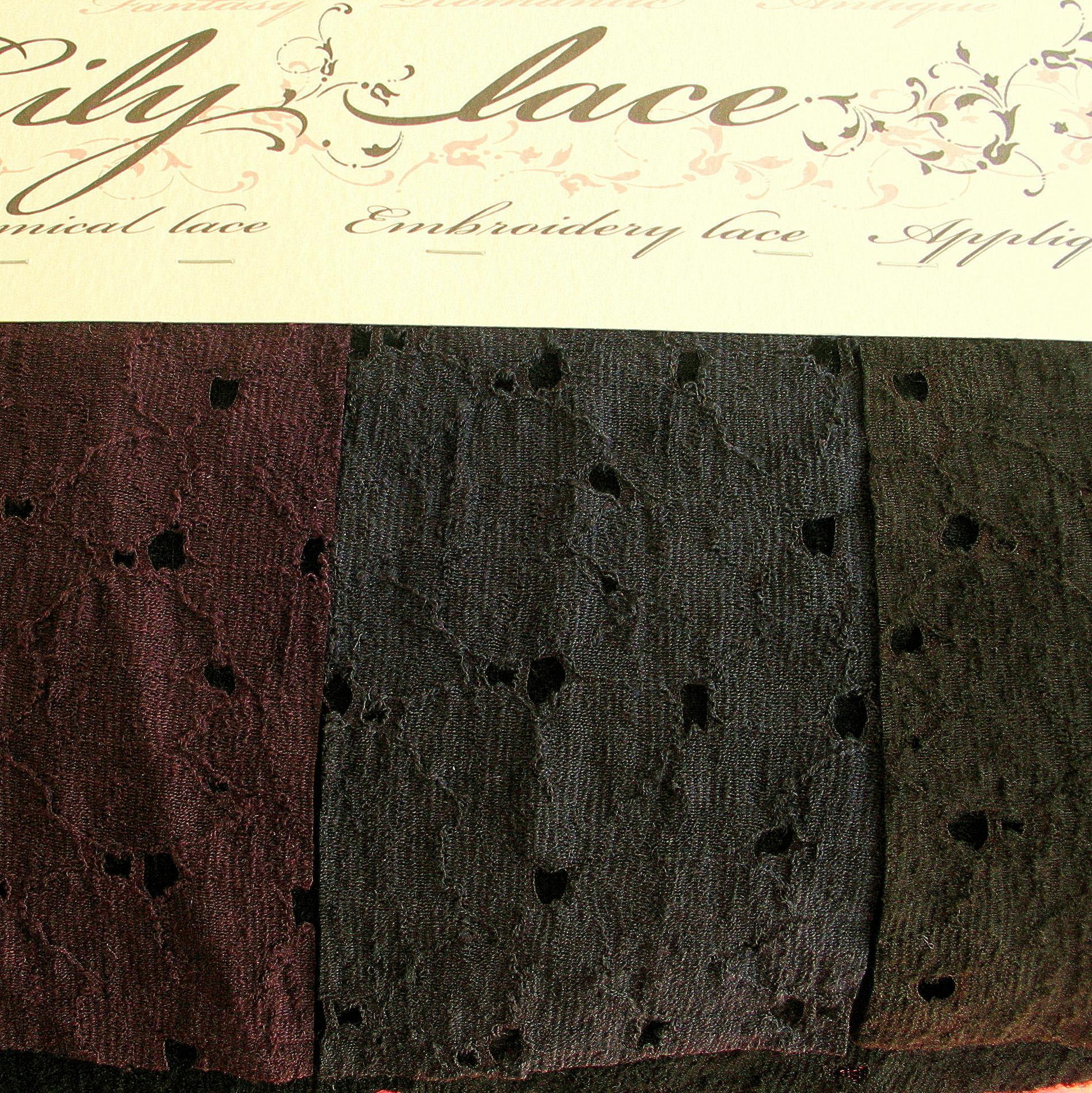 stretch woll spitze in dunkelbraun bestickte spitzen pailletten raschel spitzen. Black Bedroom Furniture Sets. Home Design Ideas