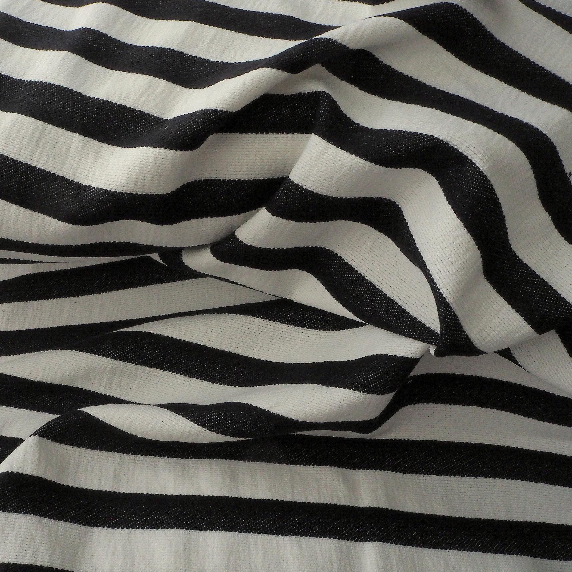 stretch quer streifen dobby stoff in schwarz wei uni stoffe. Black Bedroom Furniture Sets. Home Design Ideas